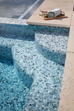 Agate 1 x 4 in Umbria Pearl • Santa Rosa Pool and Pool House
